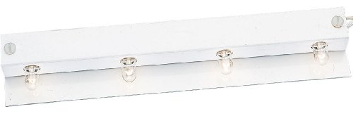 Progress Lighting P7505-30WB Covered Strips Presenting A Smooth Face and Removes Easily Baked White Enamel Finish On Integral Reflector and Lamp Sockets Are On 2-1/2-Inch Centers, White ()