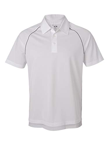 Adidas ClimaLite Piped Pique Colorblock Polo - White/Black A82 X-Large -