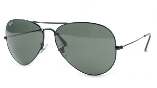 Ray-Ban - Large Metal Aviator Sunglasses RB3025 (Black / G-15 XLT) by Ray-Ban