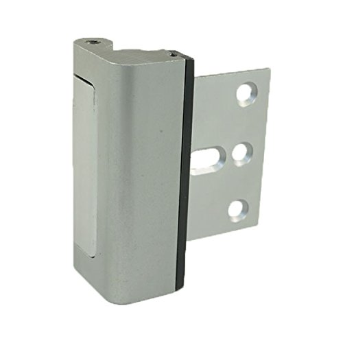"HardwareX Supply Door Reinforcement lock, Privacy Door Latch Harden Construction 3"" Stop, Satin Nickel"
