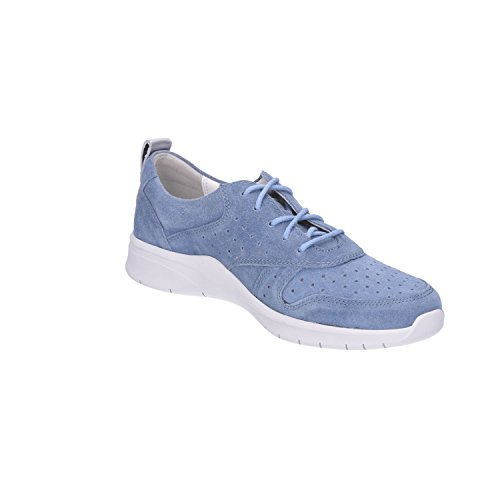 Bleu Pour Femme Moyen Waldläufer Lacets Chaussures À De Ville wwz8XY