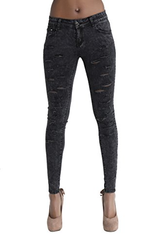 Lustychic Lustychic Donna Jeans Jeans Black RgxF6F5n