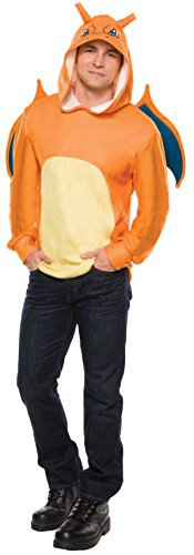 Rubie's Men's Pokemon Charizard Hoodie, Multi, Standard