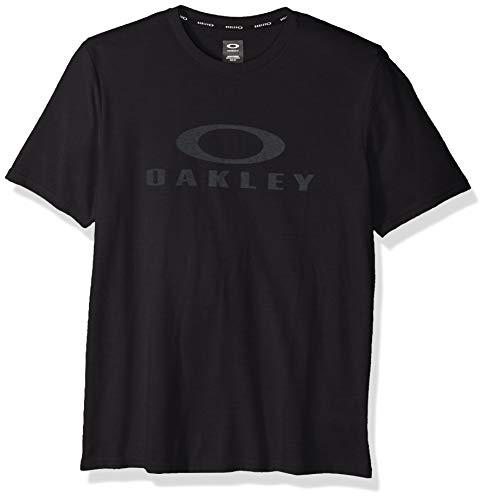 Black Logo Blackout T-shirt - Oakley Mens Men's O BARK, Blackout, L