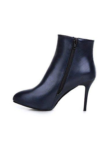 Stiletto Moda Mujer Cn34 Eu35 us8 Negro Red Botas Uk3 De Rojo Cn39 Vellón Noche Vestido Fiesta Tacón Black Xzz Y us5 Uk6 Eu39 La Zapatos A Azul 8wCxqAIp