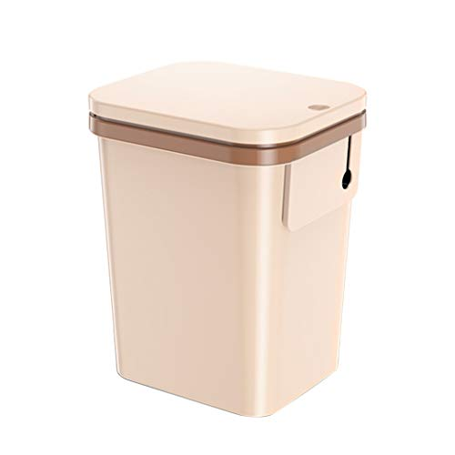 Thickened PP Material Trash Can with Lid No Smell Home Kitchen Bedroom Storage Bucket (16L) ()