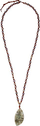 Chan Luu Women's Taupe Pearl and Pendant Necklace Taupe Mix One Size Chan Luu Pearl And Silver Necklace
