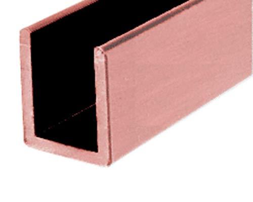(CRL Antique Brushed Copper Frameless Shower Door Aluminum Deep U-Channel for 3/8