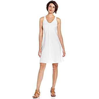 Eileen Fisher Sleeveless OrganicLinen Shift Dress White X-Small