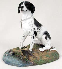 (Pointer Blk/Wht MyDog Figurine)