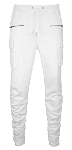 Style Addiction Mens Twill Jogger Pants