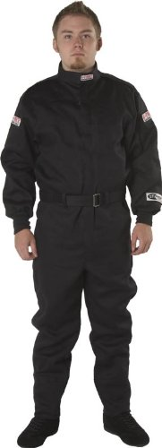 G-Force 4125XXLBK GF 125 Black XX-Large Single Layer Racing Suit