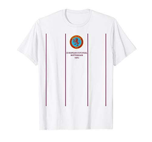 Vintage Aston Soccer Jersey Retro 1982 Villa Shirt Gift