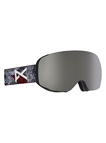 Anon M2 Asian Fit Snowboard Goggle with Spare Lens, Red Planet/Silver Solex - Goggles M2 Anon