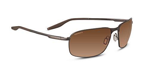 Serengeti Varese Sunglasses Brushed Brown Unisex-Adult - Lightweight Serengeti Sunglasses