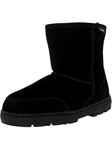 BEARPAW Men's Patriot Winter Boot, Black, 12 M US