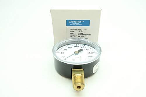 ASHCROFT 25W1005-H-02L-200# Pressure Gauge 0-200PSI 1/4IN NPT D654523