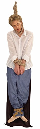 [Well Hung Man Men'S Adult Halloween Costume Funny Noose Best] (Medieval Serving Wench Costumes)
