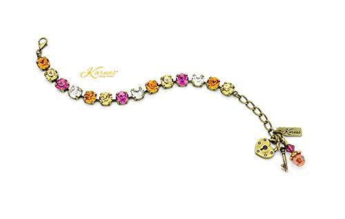 - ASTRAL ALLURE 8mm Charm Bracelet Made With Swarovski Crystal *Choose Finish & Size *Karnas Design StudioTM