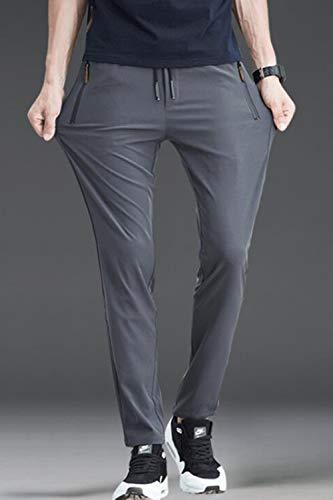 I Etero Pantaloni Slim Tratto Vepodrau Uomini Casual Grey Elasticizzati 10q5qwP
