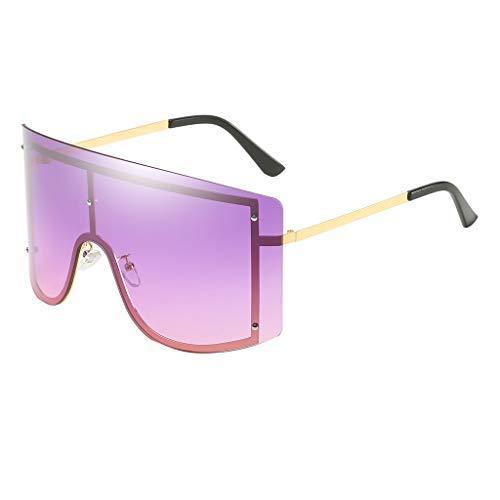PENGY Sunglasses Fashion Man Women Oversize Sunglasses Glasses Shades Vintage Retro Style New Polarized Stripe Aluminum Frame Multi Stripes
