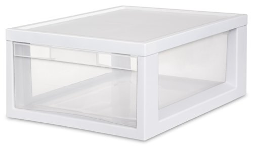 Sterilite 23608006 Medium Modular Drawer, White Frame wit...