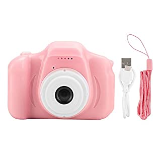 Yoidesu Portable Mini Children Kid Digital Video Camera Children Camera Toy with 2.0in IPS Screen TFT Color Screen for Windows ME/2000/2003/p/vista/win7/Mac os Linux (Pink)