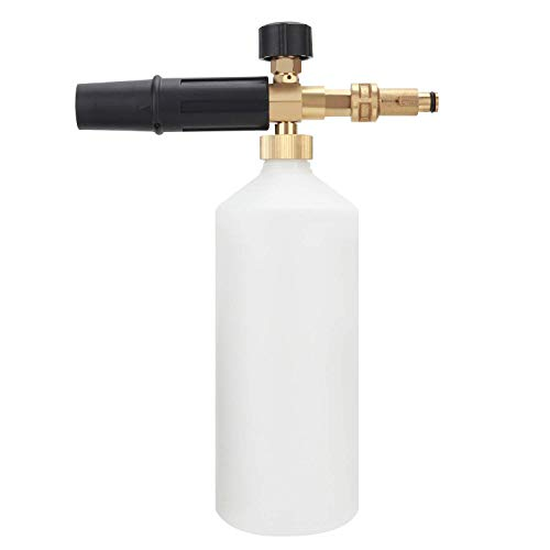 BRAUTO Pressure Washer Snow Foam Lance Fitting Cannon 1L Nozzle Spray Jet Wash Bottle for Bosch AQUATAK (Brass Nozzle)