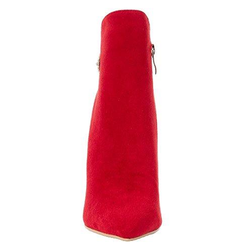 pour Bottes Femme 001 EU Rouge 5 ZAPROMA Red XUE 36 tEqO77