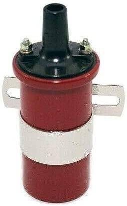 45K Can Coil COMPATIBLE WITH FORD Y-Block 256-272-292-312 Small HEI Distributor RED Wires