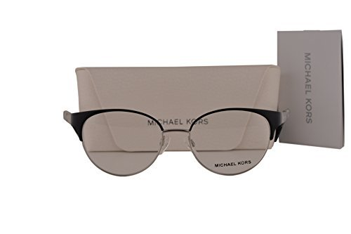 Michael Kors MK3010 Adelaide IV Eyeglasses 51-17-135 Satin Black Silver 1077 MK - Michael Amazon Kors Sunglasses