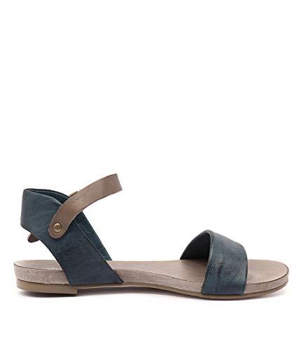 JINNIT NAVY Womens Sandals JULIETTE LEATHER TAUPE Flat Summer amp; Sandals DJANGO wSBE1q1