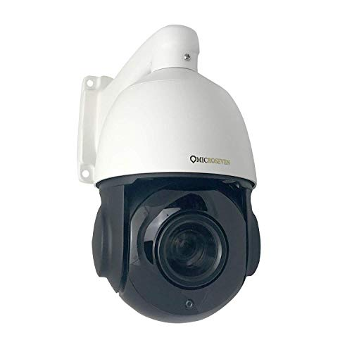 - Microseven 20x Optical Zoom Compatible Alexa, PoE+& WiFi Two-Way Audio,128GB TF Card Slot,1080P/30fps Pan Tilt Zoom Outdoor PTZ Speed Dome Day&Night IP Camera, Web GUI,Apps & VMS,ONVIF,Free 24hr Cloud