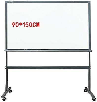 ホワイトボード ホワイトボードには、4枚のユニバーサルホイール強化ガラスパネルを持ち、Officeの教育援助ライティング立ちイーゼルスタンド、オフィスの講義ティーチング マウントされたホワイトボード (色 : 白, サイズ : 90x150cm)