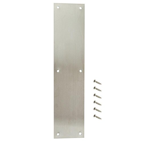Everbilt 3-1/2 in. x 15 in. Satin Aluminum Push Plate by Everbilt