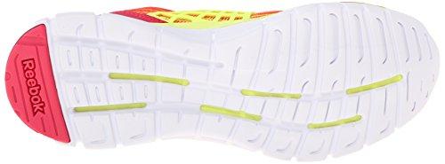 Reebok Womens Z Dual Rush Scarpa Da Corsa Rosa Acceso / Giallo Solare / Bianco