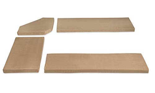 - Linon 90375BGE-01-KD Henry Cushion Beige Microfiber Nook NOT Included Cusion Set,