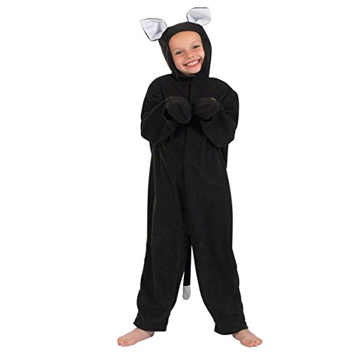 Cat Costume for Kids 3-5 Years Black]()