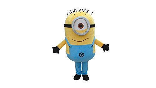 Happy Shop1 Huge Minion Minions Halloween Adult Mascot Costume Fancy Dress Cosplay Outfit for $<!--$219.99-->
