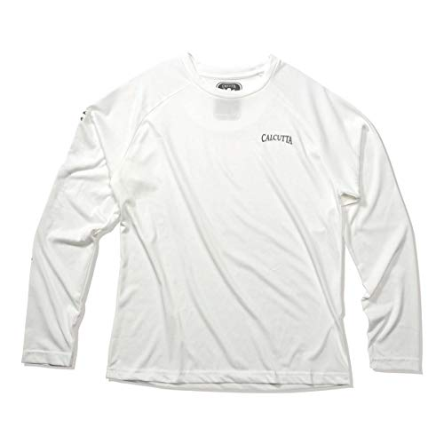 - Calcutta Performance Poly T-Shirt L/S White, X-Large