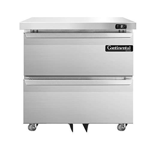 Continental Refrigerator DLF32-SS-U-D Designer Line Single Section Undercounter Freezer, 32