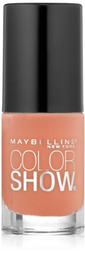 (Maybelline New York Color Show Nail Lacquer, Pretty In Peach, 0.23 Fluid Ounce)