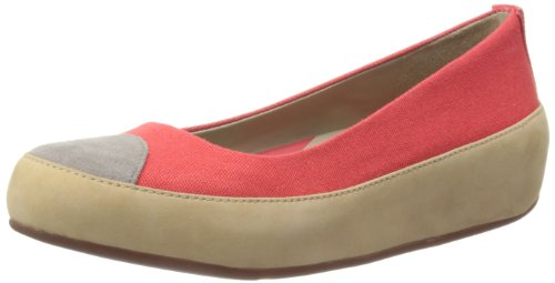 Fitflop Due Canvas - Bailarinas de lona para mujer Rojo (Hibiscus Red)