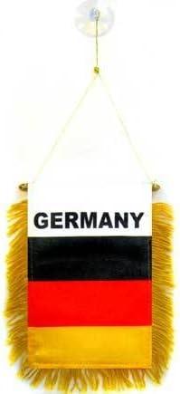 AZ FLAG BANDERIN de Alemania 15x10cm con Ventosa - BANDERINA Alemana 10 x 15 cm para Coche: Amazon.es: Hogar