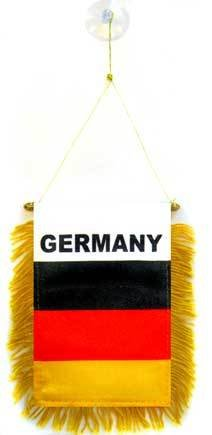 (AZ FLAG Germany Mini Banner 6'' x 4'' - German Pennant 15 x 10 cm - Mini Banners 4x6 inch Suction Cup Hanger)