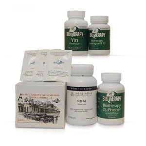 Biotherapy Chronic Inflammation of the Pancreas with Pain Kit ( Includes: Karlovy Vary Healing Mineral Water, MSM, DL Phenine and Sublingual b12) by Biotherapy