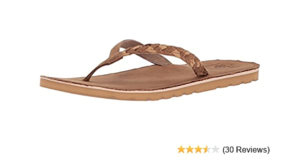 8d0957f6e5 Amazon.com | Reef Womens Sandal Voyage Sunset | Premium Real Leather ...