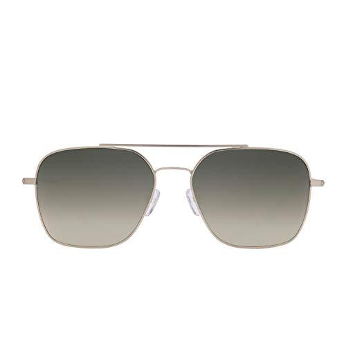 DIFF Eyewear - Ace - Designer Aviator Sunglasses for Men & Women - 100% UVA/UVB [Polarized] (Brushed Silver + G15 Gradient)