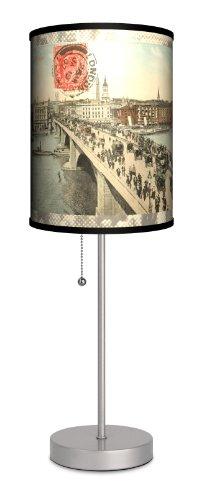 Travel - London Bridge Postcard Sport Silver Lamp