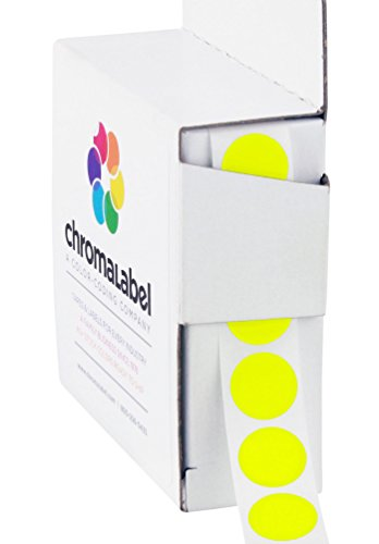"1/2"" Fluorescent Yellow, Color-Code Dot Labels 
